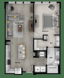 A2.2 837 SF 4114 Addison at Gateway Graphic Unit Plans-17