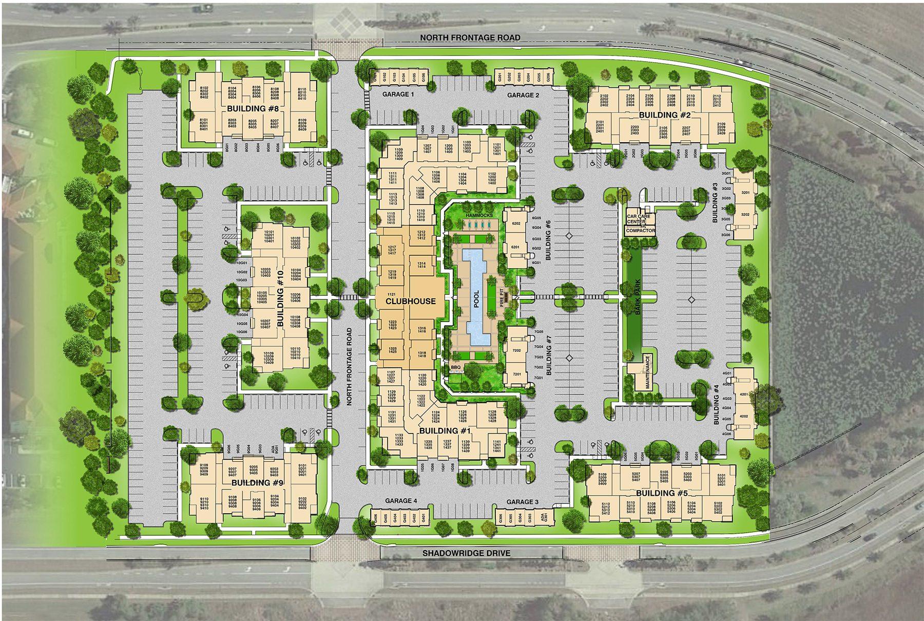Addison at Gateway Addressing Site Plan